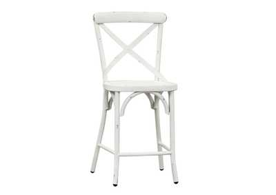 Vintage Series Antique White X Back Counter Chair,Liberty
