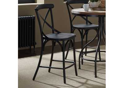 Image for Vintage Series Black X Back Counter Chair - Black