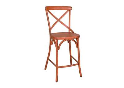 Image for Vintage Series Orange X Back Counter Chair