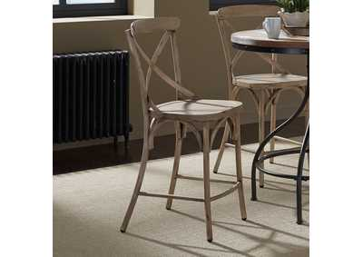 Image for Vintage Series Vintage Cream X Back Counter Chair