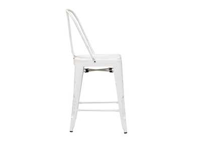 Vintage Series Antique White Bow Back Counter Chair,Liberty