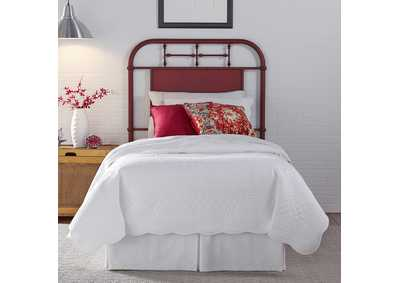 Image for Vintage Series   Twin Metal Headboard - Red