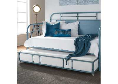 Image for Vintage Series Black Twin Metal Trundle - Blue