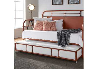 Vintage Series Orange Metal Twin Daybed w/Trundle