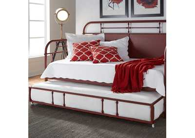 Image for Vintage Series Red Metal Twin Daybed w/Trundle