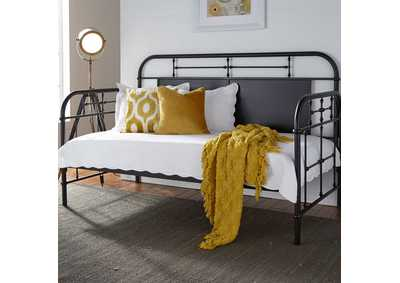 Image for Vintage Series Blue Twin Metal Day Bed - Black