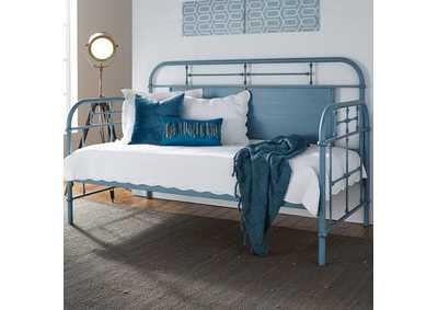 Image for Vintage Series Black Twin Metal Day Bed - Blue