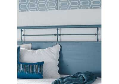 Vintage Series Black Twin Metal Day Bed - Blue,Liberty