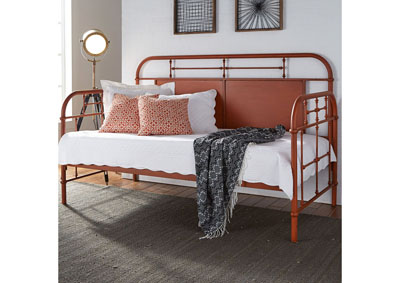 Vintage Series Orange Metal Twin Daybed
