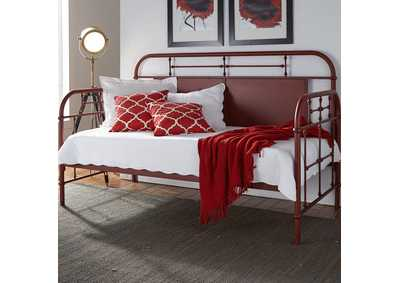 Vintage Series Red Metal Twin Daybed