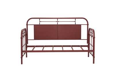 Vintage Series Red Twin Metal Day Bed - Red,Liberty