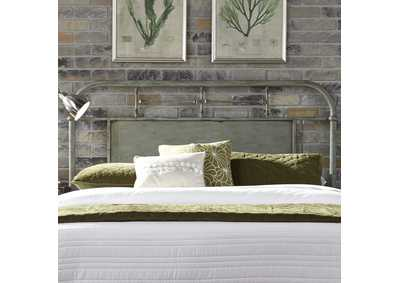 Image for Vintage Series Grey Queen Metal Headboard