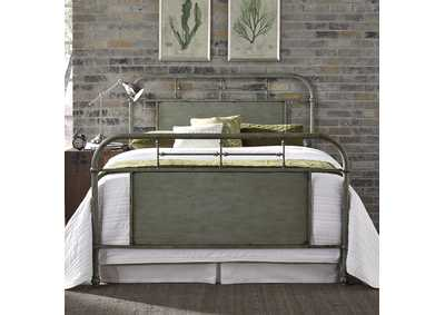 Image for Vintage Series Grey Queen Metal Bed