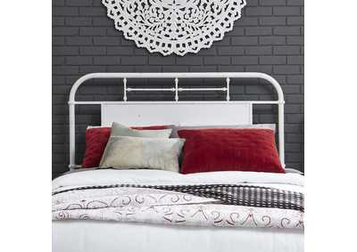 Image for Vintage Series Antique White King Metal Headboard - Antique White
