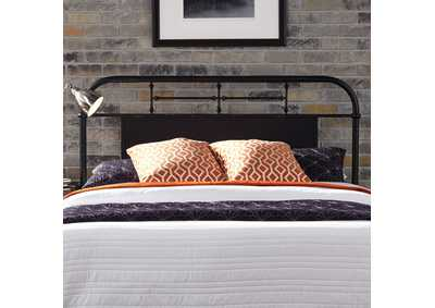 Image for Vintage Series Blue King Metal Headboard - Black