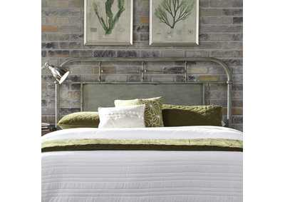 Image for Vintage Series Grey King Metal Headboard - Green
