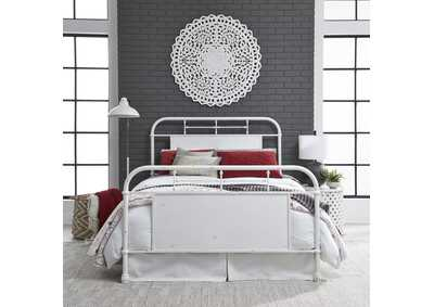 Image for Vintage Series Antique White King Metal Bed - Antique White
