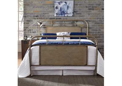 Image for Vintage Series Vintage Cream King Metal Bed - Vintage Cream