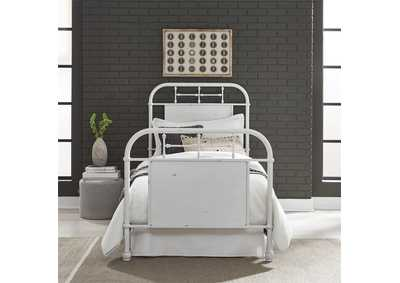 Vintage Series   Full Metal Bed - Antique White