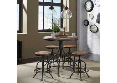 Vintage Series Pub Table w/4 24 Inch Adjustable Barstools,Liberty