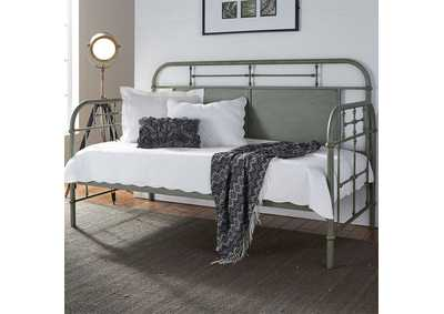 Vintage Series Green Metal Twin Daybed
