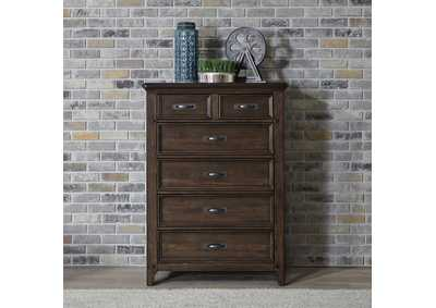 Image for Saddlebrook Tobacco 5 Drawer Chest