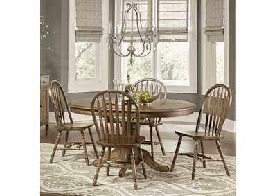 Image for Carolina Crossing Antique Honey 5 Piece Dining Set