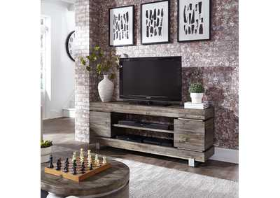 West End Grey Pine TV Console - 72 Inch