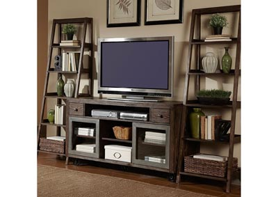 Image for Avignon Rustic Brown Entertainment Center w/Piers