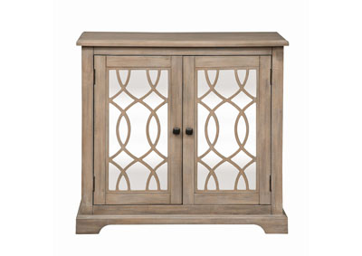 Alpine Bronze 2 Door Mirrored Accent Cabinet