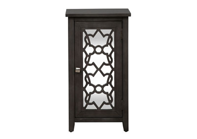 Starmount Black Mirrored Door Accent Cabinet