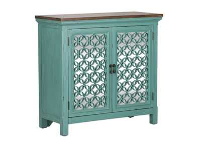 Kensington Turquoise 2 Door Accent Cabinet