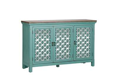 Kensington Turquoise 3 Door Accent Cabinet