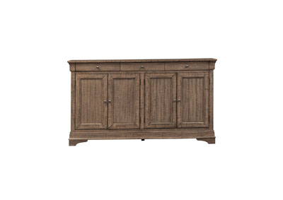 Gentry Brown 4 Door Accent Cabinet