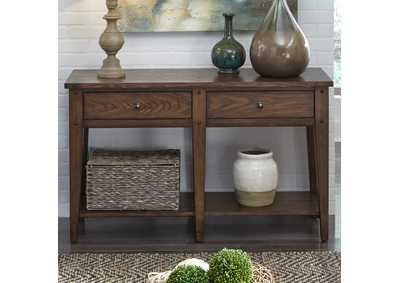 Lake House Brown Oak Sofa Table