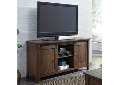 Lake House Brown Oak TV Console
