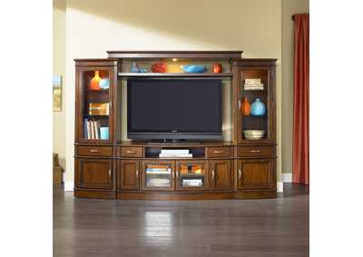 Hanover Cherry Spice Entertainment Center with Piers