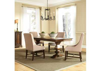 Armand Antique Brownstone 5 Piece Dining Set