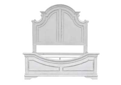 Magnolia Manor Antique White King Panel Bed