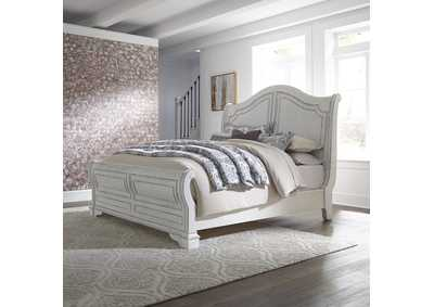 Magnolia Manor White King Sleigh Bed