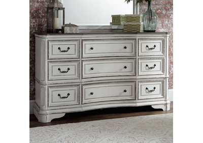 Magnolia Manor Antique White 9 Drawer Dresser