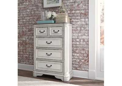 Image for Magnolia Manor Antique White 4 Drawer Chest