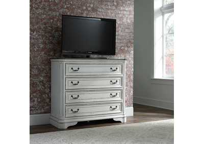 Magnolia Manor White Media Chest