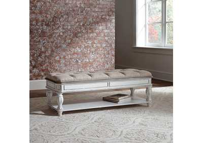 Magnolia Manor Antique White Bed Bench