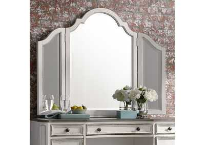 Image for Magnolia Manor Antique White Vanity Mirror