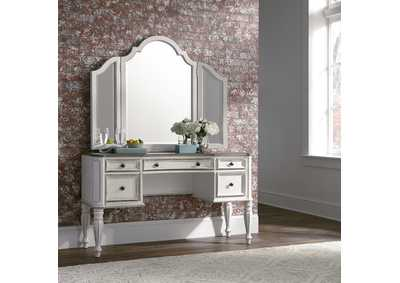 Image for Magnolia Manor Antique White Vanity Set