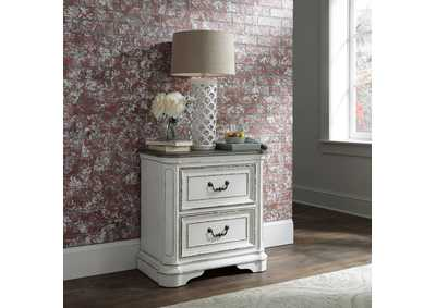 Magnolia Manor Antique White 2 Drawer Night Stand