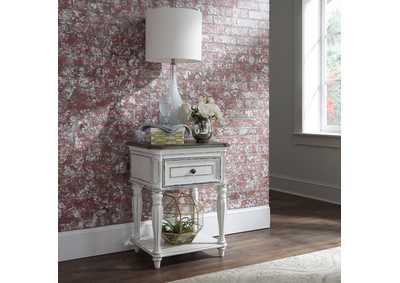 Magnolia Manor Antique White Leg Night Stand
