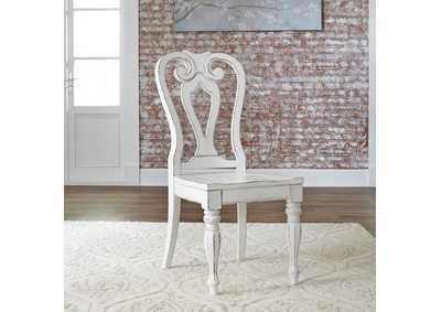 Magnolia Manor White Splat Back Side Chair (RTA)