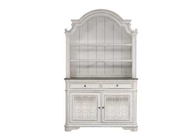 Magnolia Manor White China Cabinet